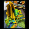 """WOMEN 100%MULBERRY SILK 41""""SQUARE SCARF SHAWL FLORAL PRINT #101402 HAND ROLLED"""