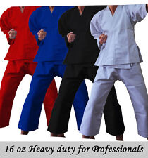 Professional heavy duty 16oz Adults/Kids White Black Red Karate Suit martial art