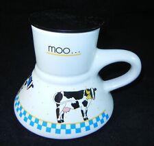 Feltman Langer Cow Moo Coffee Mug Cup 1988 Spill Proof with Lid