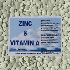 ZINC and VITAMIN A ~ 120 tablets ~ One per day L)