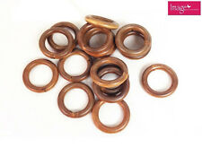 18+2Free Curtain Ring Round Wooden Ring Curtain DIY Material 6cm Outer Dia