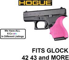 PINK Hogue Rubber HandAll Beavertail Grip Sleeve Glock 42 43 G42 G43