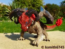 Schleich DRAGON BATTERING RAM winged plastic toy figure animal reptile blue red
