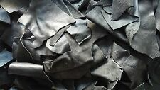 Scarti/ritagli di pelle italiana, NERO - al kg