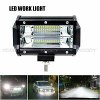 72W Bright Spot and Flood 24 LED Work Light For Jeep Off Road SUV Boat Truck