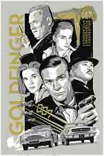 Very Rare GOLDFINGER Poster | Signed Ken Adam | Honor Blackman - Pussy Galore