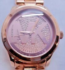 "Michael Kors MK5661 Women's Rose Gold Tone Analog Watch Size 6 1/4"" Used"