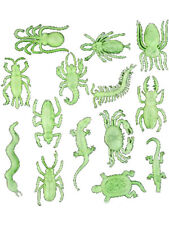 Lot 144 Glow In The Dark Assorted Plastic Animals And Bugs