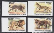 WCAT61 - WILD CATS ANIMALS STAMPS BURUNDI 2011 WILDCATS IMPERF MNH
