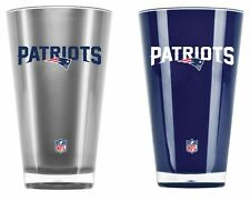 New England Patriots Tumblers - Set of 2 20oz Glass [NEW] Tumbler Coffee Cup Mug