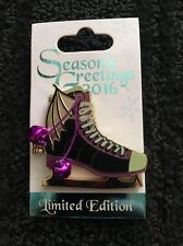 Disney Maleficent Ice Skate Christmas Hinged Pin 2016 Limited Edition