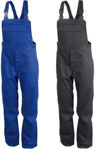 Kübler Latzhose Arbeitshose Schweisserschutz Blau Anthrazit 100% Baumwolle