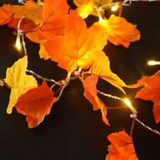 1pc Maple Leaf Lamp Garland Party Decoration Decor LED Lighted Autumn Leaves