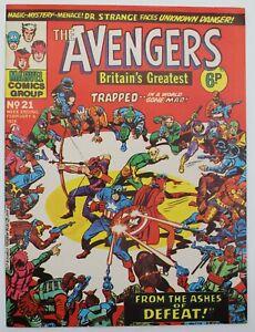 Avengers (1973) #21 UK Reprint of Avengers #24 Kang Kirby Cover Dr Strange VF-