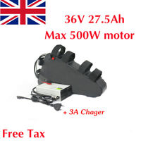 36V 27.5Ah 500W Li-oin Lithium Triangle Electric Bike Battery LG Cell 3A Charger