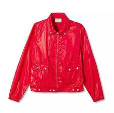 PROENZA SCHOULER for Target Size SMALL Red Women's Long Sleeve Bomber Jacket NWT