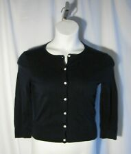 Chaps by Ralph Lauren Small S Navy Blue Cardigan Sweater Lightweight