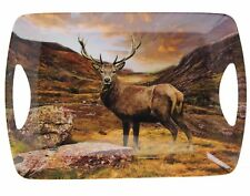 Stag Highland Monarch Deep  Decorative Serving Diner Tray Country Shooting Gift