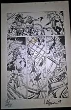 Armorines #1 Page 18 Original Ink art Jim Calafiore & Rod Ramos Valiant Comics