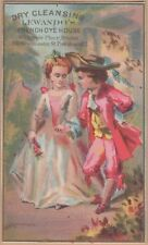 Victorian Trade Card-Lewando's French Dye House-Providence, RI-Bride & Groom