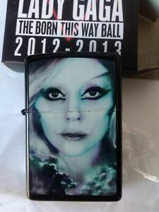 Lot of 2 Lady Gaga The born This way ball Refillable Lighter 2012-2013