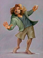 """Jeff Bridges. Tribute to The Dude Giclee Print 16"""" by 20"""""""