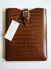 "$5500 RALPH LAUREN PURPLE LABEL Alligator iPad 2 3 4 Air Pro 9.7"" Case Cover"