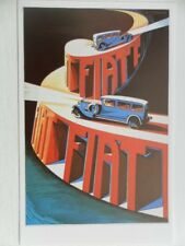 POSTCARD FIAT POSTER CARD - ITALY