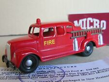 646 H Rare Micro Models MM507 New Zealand Morris Fire Engine GB/13 + Boite 1:60