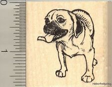 Puggle dog Rubber Stamp H11817 Wm pug beagle mix