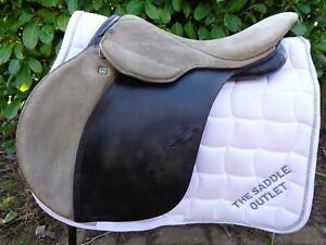 "17"" Stubben Scandica ll Close Contact Jump Saddle black/brown B medium narrow"