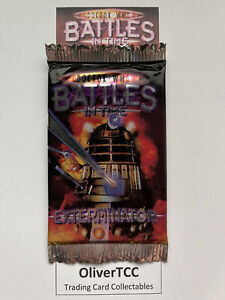 Dr Who Battles In Time Sealed Booster Pack Packet Of Exterminator Trading Cards