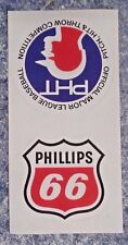 (25) Phillips 66 Cloth Reflective Unused Stickers Decals Pitch Hit Throw MLB