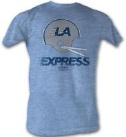 LA Express LOGO USFL  Men's Tee Shirt Light Blue Sizes S-5XL