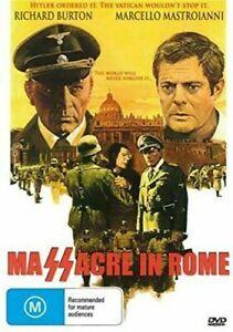 Massacre In Rome DVD Richard Burton Brand New and Sealed Australian Release