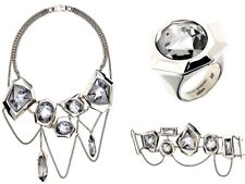 NIB ATELIER SWAROVSKI JEAN PAUL GAULTIER REVERSE NECKLACE BRACELET RING SET