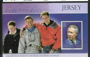 Jersey 2008 Prince Charles min sheet MNH
