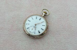 Orologio Pocket Watch Vintage Argento 800 enamel dial Similar IWC Swiss Made