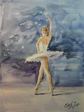 Contemporary Art/ Original Painting by American Artist Grace Eun Jung /Ballerina