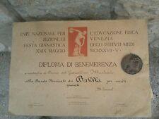 """Medaglia di bronzo """"Ventennio Fascista con diploma di benemerenza"""
