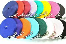5ft - 50ft Long Dog Training Lead Leash 25mm Soft Comfy Strong Cushion Webbing