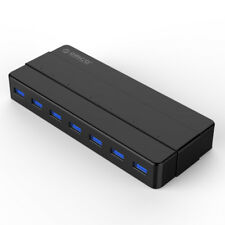 ORICO 7-Port USB3.0 HUB Splitter 1m Cable Adapter +LED For Laptop U Disk HDD USA