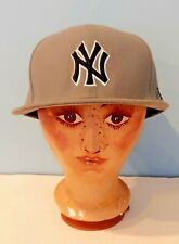 "Rare New Era 59Fifty New York Yankees NY ""RABDOG"" Gray Fitted Size 7 1/2 Hat Cap"