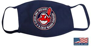 Cleveland Indians and Chief Wahoo Mask Forever Face Mask MADE IN USA