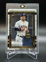 2020 Topps Museum Collection Jose Altuve Gold Patch #'d 17/25 MMR-JAL HOU Astros