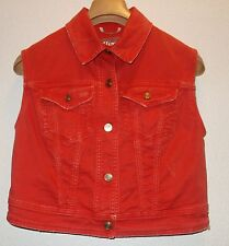 John Galliano Denim Vest Sleeveless Jacket  orange SZ EU 40 NEW