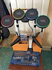 PS3 PS4 Rock Band Drum Set w/ Pro 3 Game with Dongle & New Pro Cymbals *LOOK*