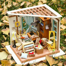 DIY Wooden House Tailor Shop 3D Dollhouse With Furniture Kit Light Creative Gift