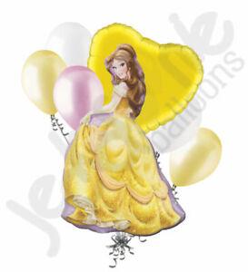 7 pc Disney Princess Belle Beauty & the Beast Balloon Bouquet  Birthday Movie