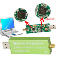 Alluminio USB 2.0 RTL-SDR 0.5PPM TCXO Metal Case SMA RTL2832U Dongle Stick  YBH